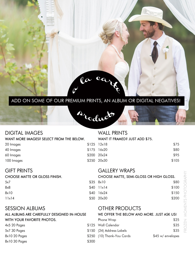 wedding-a-la-carte-sheet